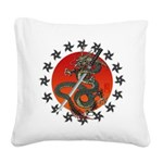 Dragon katana 2 Square Canvas Pillow