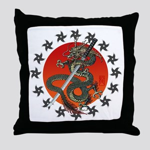 Dragon katana 2 Throw Pillow