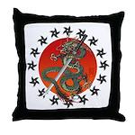 Dragon katana 2 Throw Pillow