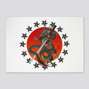 Dragon katana 2 5'x7'Area Rug