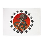 Dragon katana 2 5'x7'Area Rug