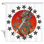 Dragon katana 2 Shower Curtain