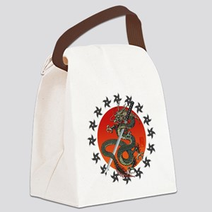 Dragon katana 2 Canvas Lunch Bag