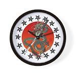 Dragon katana 2 Wall Clock