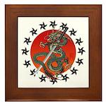 Dragon katana 2 Framed Tile