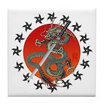 Dragon katana 2 Tile Coaster