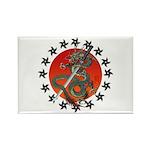 Dragon katana 2 Rectangle Magnet (100 pack)