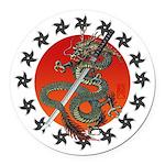 Dragon katana 2 Round Car Magnet