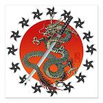 Dragon katana 2 Square Car Magnet 3