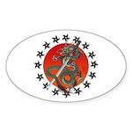 Dragon katana 2 Sticker (Oval 50 pk)