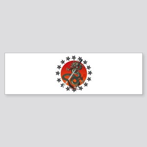 Dragon katana 2 Sticker (Bumper)
