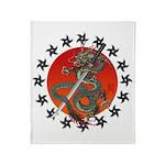 Dragon katana 2 Throw Blanket