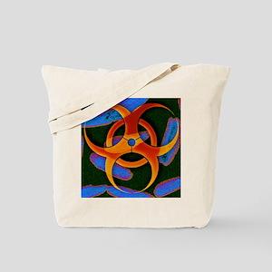 Anthrax bacteria and biohazard symbol - Tote Bag