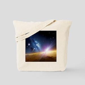 Extrasolar gas giant planet, artwork - Tote Bag
