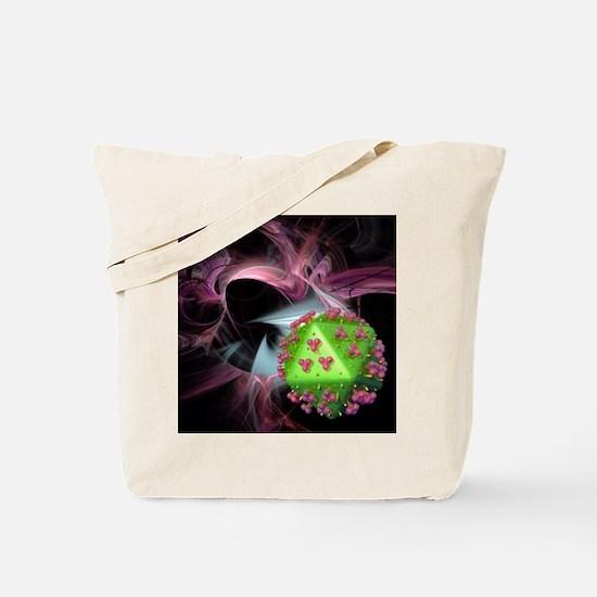 AIDS research, conceptual artwork - Tote Bag