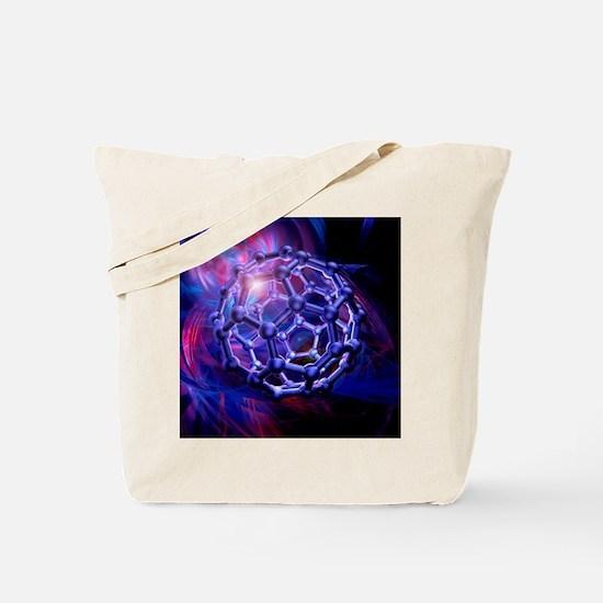 Buckyball molecule, artwork - Tote Bag