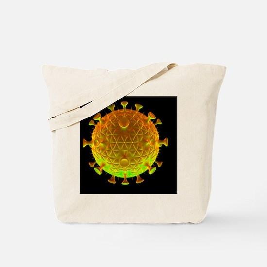 HIV virus particle, artwork - Tote Bag