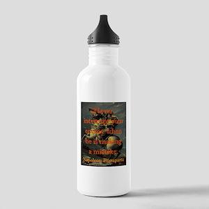 Never Interrupt Your Enemy - Napoleon Water Bottle