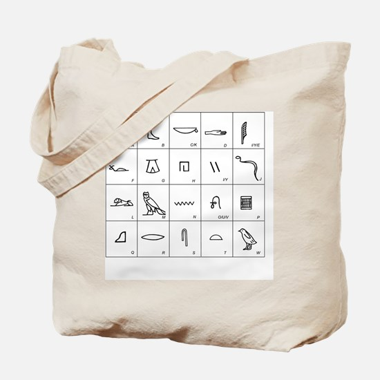 Phonetic Egyptian hieroglyphs - Tote Bag