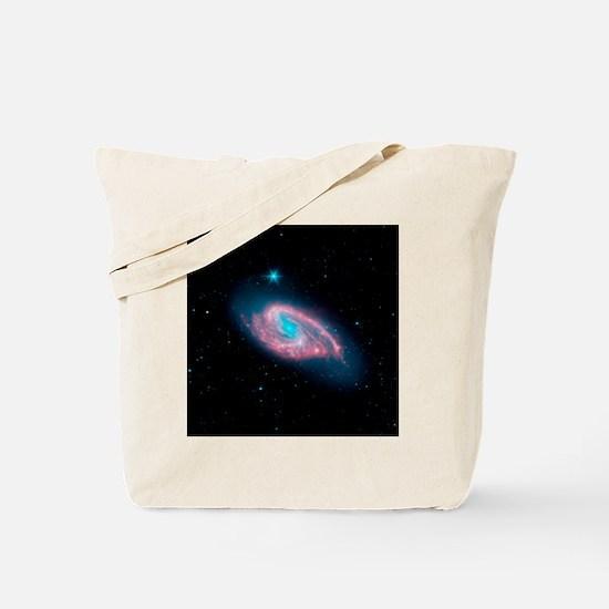 Spiral galaxy M66, infrared image - Tote Bag