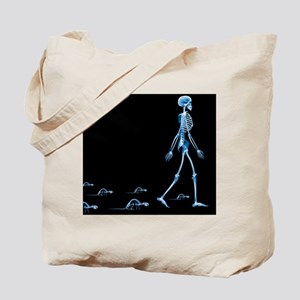 Skeletons of a human and rats, X-ray - Tote Bag