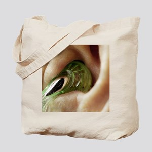 Earphone in an ear - Tote Bag