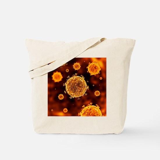 HIV virus particles, artwork - Tote Bag