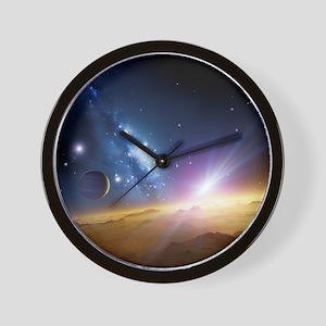 Extrasolar gas giant planet, artwork - Wall Clock