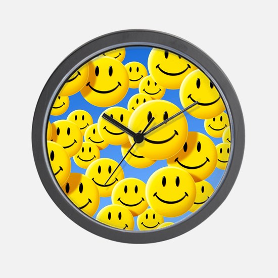 Smiley face symbols - Wall Clock