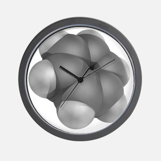 Benzene, molecular model - Wall Clock
