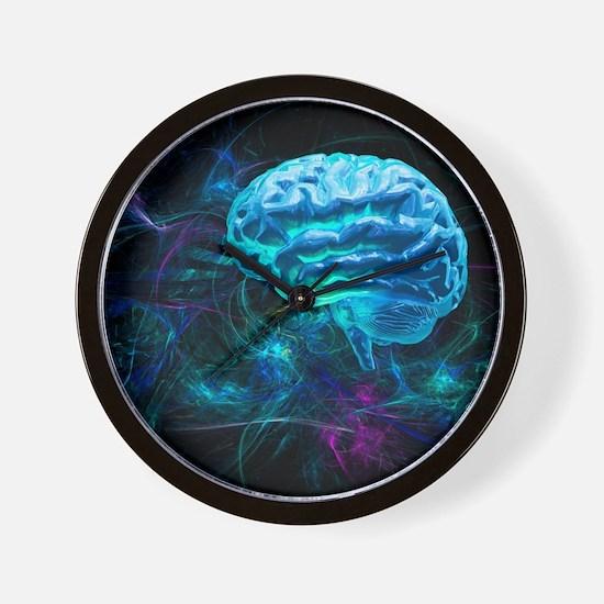 Brain research, conceptual artwork - Wall Clock