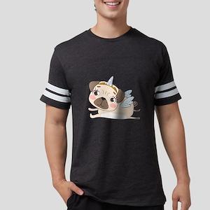Unicorn Pug Mens Football Shirt
