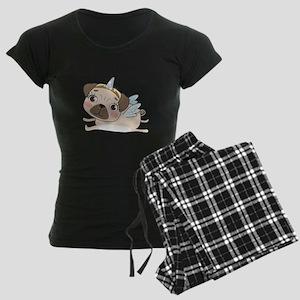 Unicorn Pug Women's Dark Pajamas