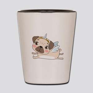 Unicorn Pug Shot Glass