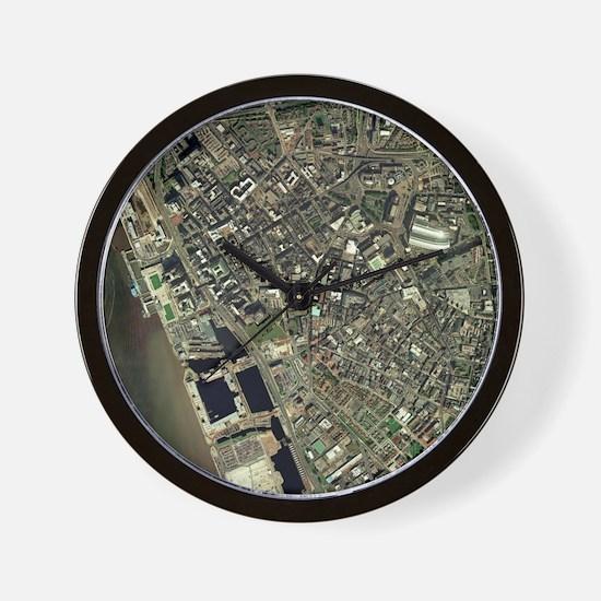 Liverpool, UK, aerial image - Wall Clock
