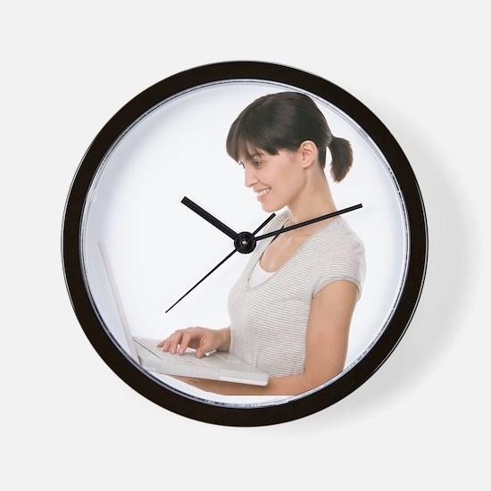 Laptop use - Wall Clock