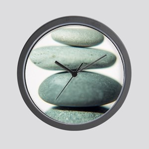 Stacked pebbles - Wall Clock