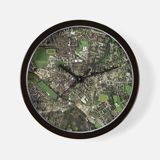 Stoke-on-Trent, UK, aerial image - Wall Clock