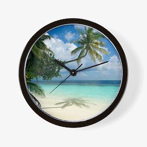 Tropical beach - Wall Clock