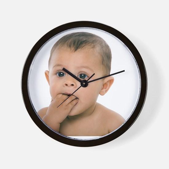 Teething baby girl - Wall Clock