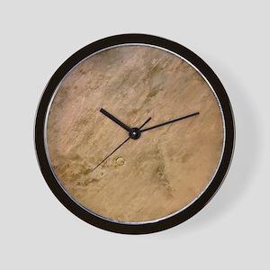 Tenoumer Crater, satellite image - Wall Clock