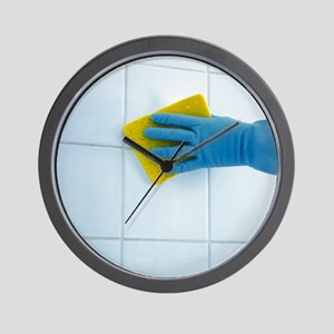 Ceramic tile cleaning - Wall Clock