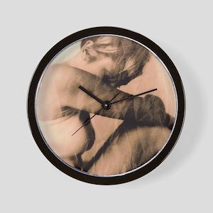 Depressed woman - Wall Clock