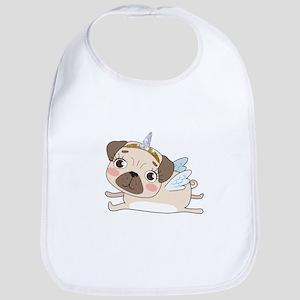 Unicorn Pug Cotton Baby Bib