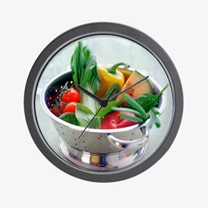 Fruit and vegetables - Wall Clock