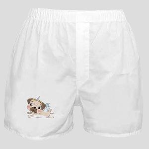 Unicorn Pug Boxer Shorts