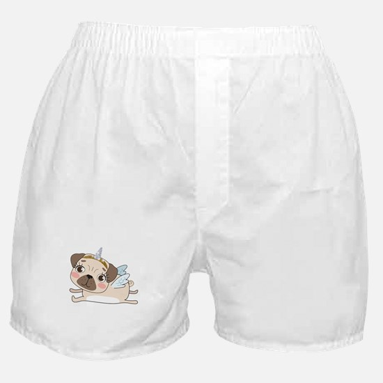 Unicorn Pug Boxer Shorts