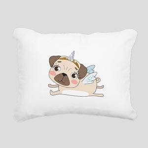 Unicorn Pug Rectangular Canvas Pillow