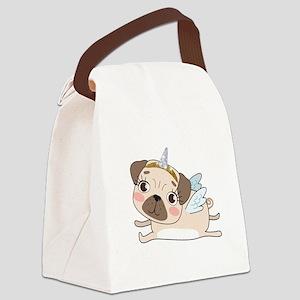 Unicorn Pug Canvas Lunch Bag