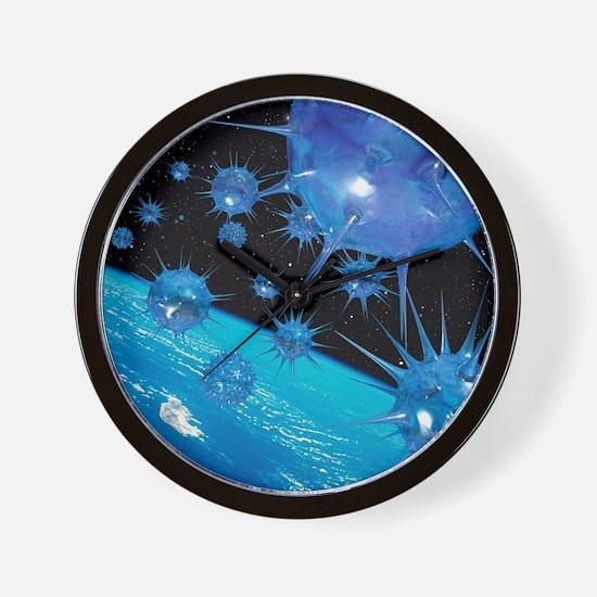 Global pandemic - Wall Clock